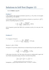 Self Test Ch 15 Solutions