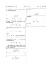 Math 1172 7.5 Solutions Sp 2014