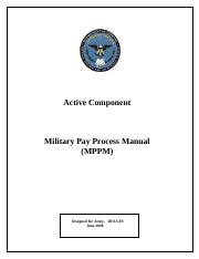 mypaypdf1 defense finance and accounting service military leave rh coursehero com War Manuals Saint Johns Military Academy