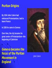 2. Defining the Puritans (1)