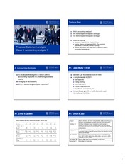 Class 3 Accounting Analysis 6slides