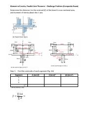 Parallel Axis Theorem (Composite Example) pdf - Moment of