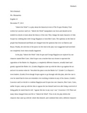 english 10 scopes monkey trial essay