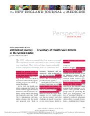 3.Oberlander J. Unfinished journey – a century of health care reform in the United States.pdf