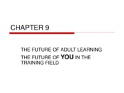 CHAPTER 9 - The Future of Adult Learning