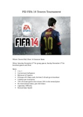 PS3 FIFA 14 Towers Tournament