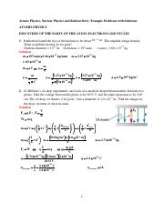 Introduction to Quantum Mechanics Example Problems with Solutions