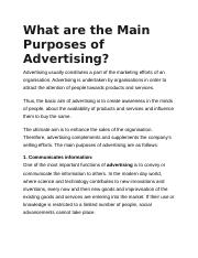 What are the Main Purposes of Advertising.docx