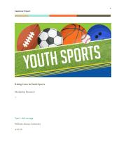 Rising Costs in Youth Sports Capstone Project.docx