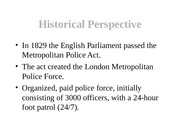 Police History - Supplemental info for Chapter 1
