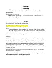 Exam Notes Contract- Damages.docx