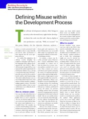Defining Misuse within the Development process--j6bsi
