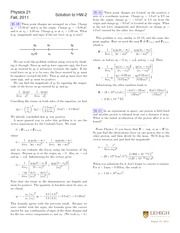 Fall 2011 HW 2 Solutions