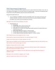 WP Assignment 3 Marking Guide