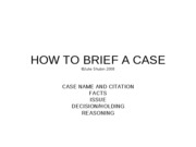 fall 2008 how to brief a case