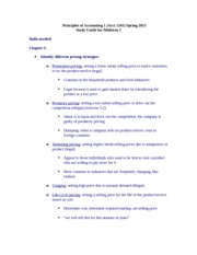 Study Guide Midterm 2 Spring 2015