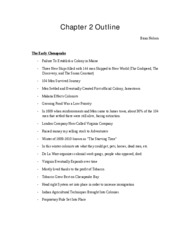 Chapter 2-5 Outline