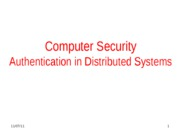 Authentication in Distributed Systems