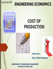 Lec.09.EE.CostofProduction.Afshan.SP16.ppt