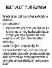 Bab 4 Bukti Audit Test Transaksi Ppt Bukti Audit Audit Evidence U2022 Berbeda Dengan Bukti Hukum Legal Evidence Dan Bukti Ilmiah U2022 Bukti Audit Adalah Course Hero
