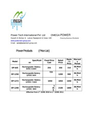 Omega_Power_Batterys price_list New