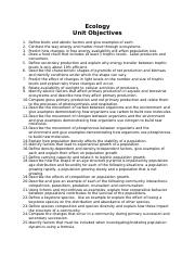 Ecology Unit Objectives.doc