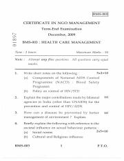 (www.entrance-exam.net)-IGNOU Certificate in NGO Management-Health Care Management Sample Paper 4.pd