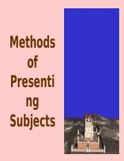 Methods of Presenting Subjects_edited_intlartists.ppt