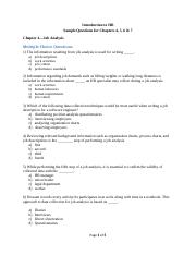 Sample Questions- Intro to HR- Chapters 4,5,67- 2016- Final (1)