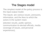 The Stages Model Lecture Slides