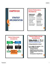 Policy and Strategy ILI Ch6 & 7