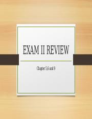 Exam II review