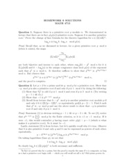 number theory homework solutions