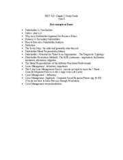 MGT 410  Weiss Ch 2 Study Guide