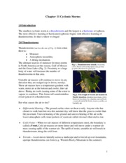 Chapter 11 Cyclonic Storms
