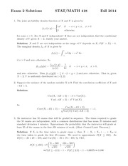 Exam 2 solution on experimental methods