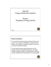 Lecture0 Properties of Energy Carriers for Energy Infrastructual system