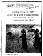 population, poverty and the environment