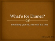 You decide_What's for Dinner_