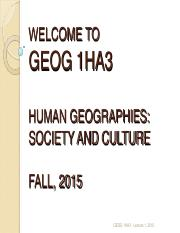 GEOG+1HA3+-+Lecture+1,+2015