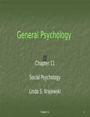 Ch 11 - Social Psychology With Min Audio