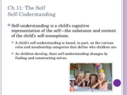 Ch 11 The Self PSYC 2076