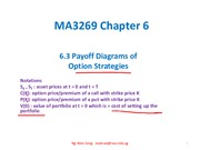 MA3269 1415S1 Chp 6.3 Payoff Tables Option Strategies