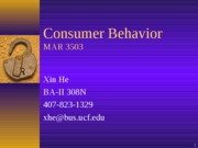 Consumer Behavior Recent Developments in Behavioral Science
