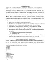 Test Study Guide 1