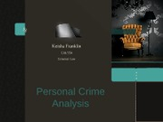 Personal Crime Analysis