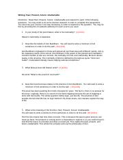 final draft short essay short essay the story of an hour and the 3 pages past present future