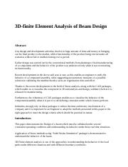 3D-finite Element Analysis of Beam Design.docx