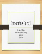 Endocrine Part II  (1)
