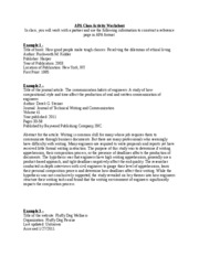 annotated bibliography peer review worksheet